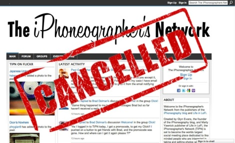 the iphoneogrpaher's network cancelled